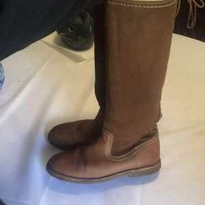Frye knee high boots with wool lining